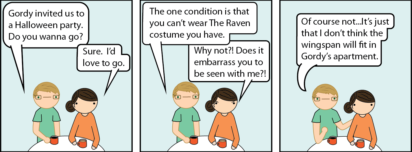 the raven party line